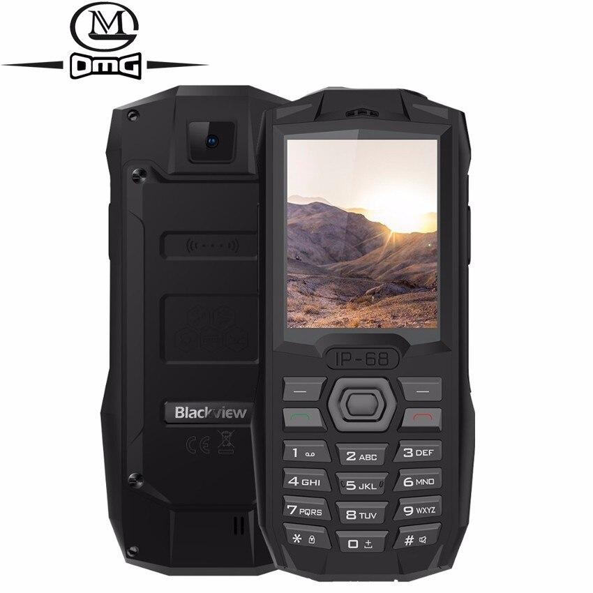 Купить Blackview BV1000 водонепроницаемый противоударный с IP68 мобильного телефона 2,4 дюймов MTK6261 Dual SIM фонарик 3000 мАч батареи FM сотовые телефоны на Алиэкспресс