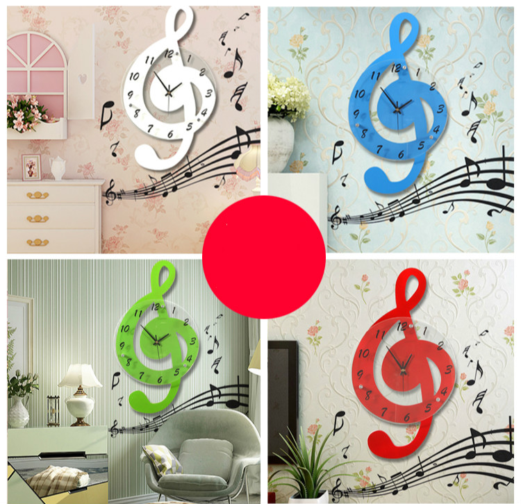 Μουσικό δωμάτιο ρολόι τοίχου μόδα - Διακόσμηση σπιτιού - Φωτογραφία 2