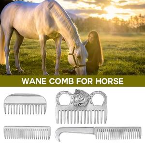 Image 1 - Aluminium Legierung Currycomb Pferd Pflege Kamm Mähne Schwanz Ziehen Kamm Metall Pferd Pflegenwerkzeug Pferd Pflege Produkte
