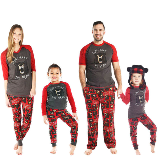 26da2c0ade Christmas Family Matching Outfits Pajamas Sets Kid Mom Father Women Xmas  Bear Sleepwear Nightwear Brother Sister Baby Clothing