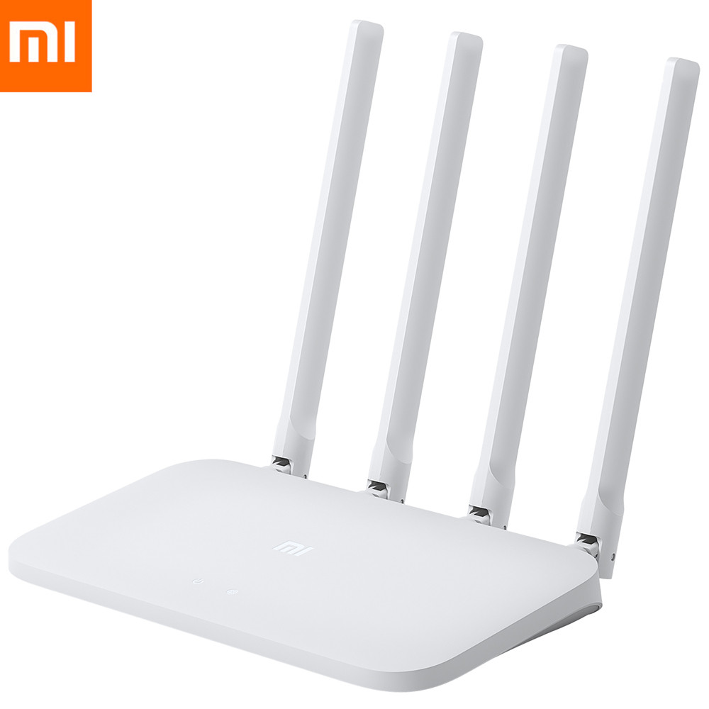 Original Xiaomi Mi 4c 4 Antenna Remote Control Ethernet Wireless Router 300mbps / Four Antennas / 2.4ghz Bright And Translucent In Appearance