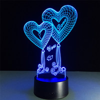 3D Lamp LED Night Light 7 Colors Changing Desk Table Lamp vanlentines day Present Gift Decor