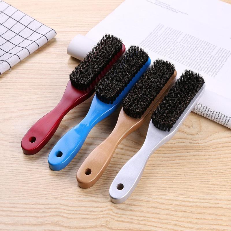 Wood Handle Hair Brush Hard Boar Bristle Combs For Men Women Hairdressing Hair Styling Beard Comb Brush
