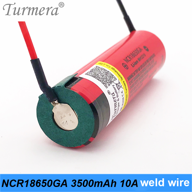 2019 Original 18650 Battery 3500mah NCR18650GA 10a 3.6V Battery for screwdriver tool electric bike battery 36v 52v +welding wire