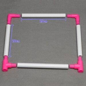 Image 5 - Clip Universal práctico para marco de bordado, soporte de aro de punto de cruz de plástico, herramienta de mano para manualidades Diy