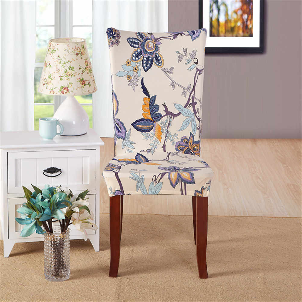 2019 Hot print solid Spandex Stretch Dining Room Wedding Banquet Chair Cover Party Decor Seat Cover Stretch Slipcover