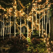 LED Meteor Shower Rain Lights Falling String Lights
