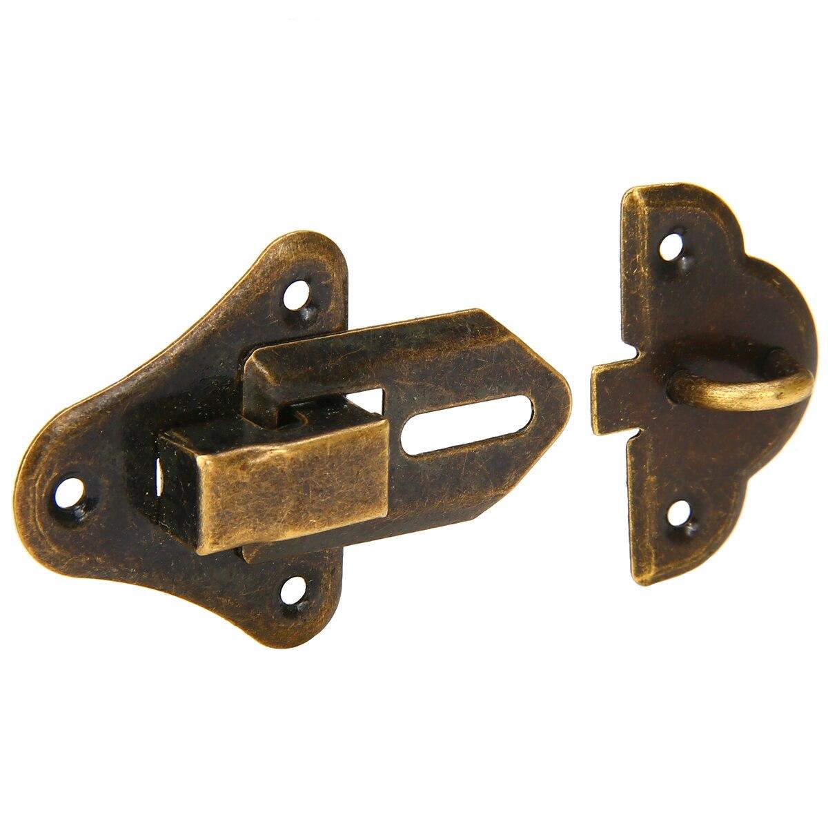 Intelligent Vintage Locks Cabinet Boxes Duckbilled Metal Toggle Latch Catch Hasp Bronze Tone Furniture
