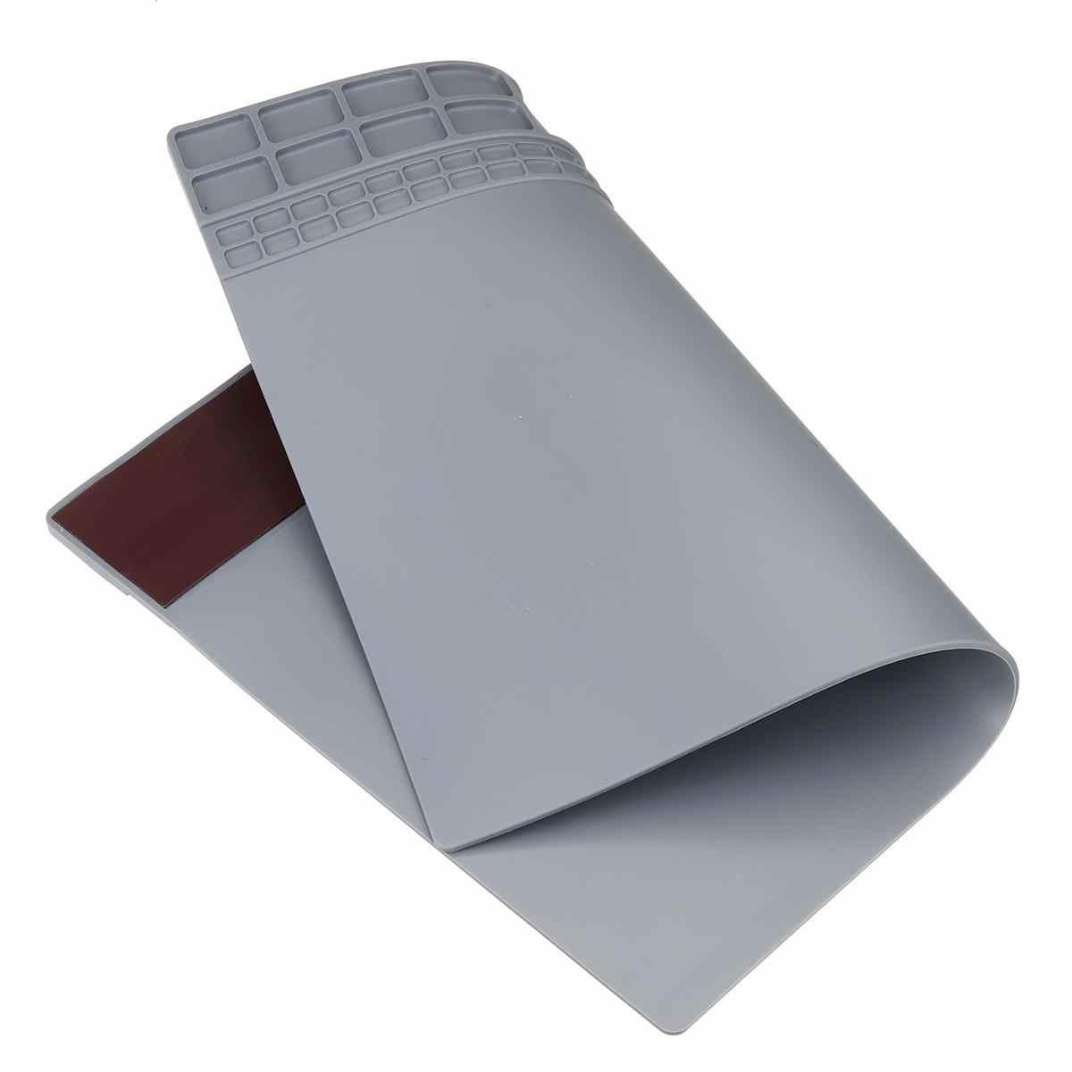 수리 패드 절연 내열성 납땜 스테이션 실리콘 납땜 매트 작업 패드 데스크 플랫폼 납땜 수리 스테이션