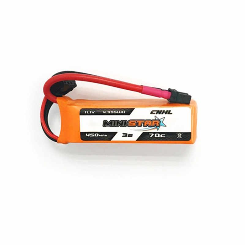 1/2/3 pièces CNHL MiniStar 450mAh 11.1V 3S 70C Lipo batterie XT30U prise pour Drone RC FPV Racing Multi Rotor pièce de rechange Accs