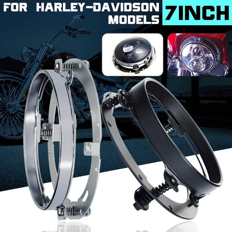 7 Round LED Headlight Mounting Ring Mounting Bracket Headlight Accessories For Harley Davidson Dyna For Road