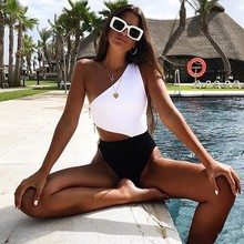 Solid Swimming Suit Women Sexy Swimsuit One Piece Swimsuits One Shoulder Swimwear Women Suits Bathing Trikini Beach Wear Bikinis one piece baths women s swimsuits swimsuit sport women maios for beach 2018 new sexy ladies solid polyester sierra surfer