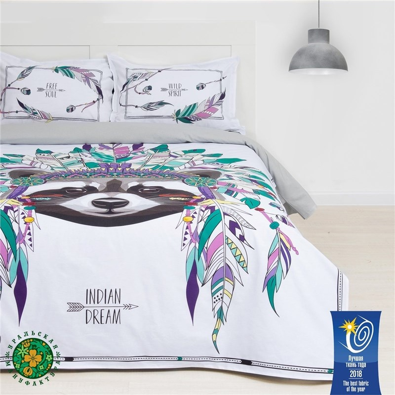 Bed Linen Ethel 1.5 CN Indian style 143х215 cm, 150х214 cm, 50х70 (+ 3) cm, 2 pcs, ранфорс 111g/m² m style диван