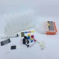 YOTAT cartucho de tinta de cor CISS 6 PGI650 PGI-650 CLI-651 para Canon PIXMA MG6360 MG7160 (Austrália)