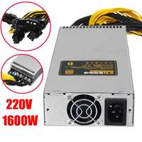 220V 1600W Power Supply 6Pin PCI E 95% for Mining Machine For Antminer S9 S7 L3+ D3