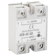 Solid State Relay SSR-40 DD Relay 40A 5-220VDC Solid State Relay untuk Industri Proses Otomatisasi(China)