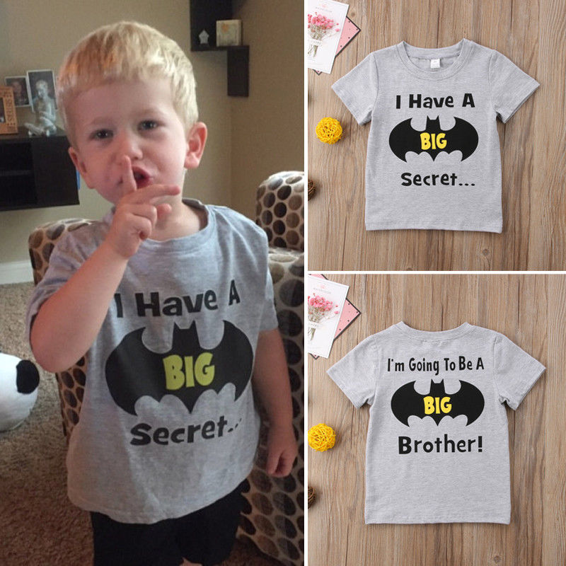 Pudcoco Boy T-Shirt Batman Toddler Baby-Boy Cotton Summer Top Kid Casual 1Y-6Y