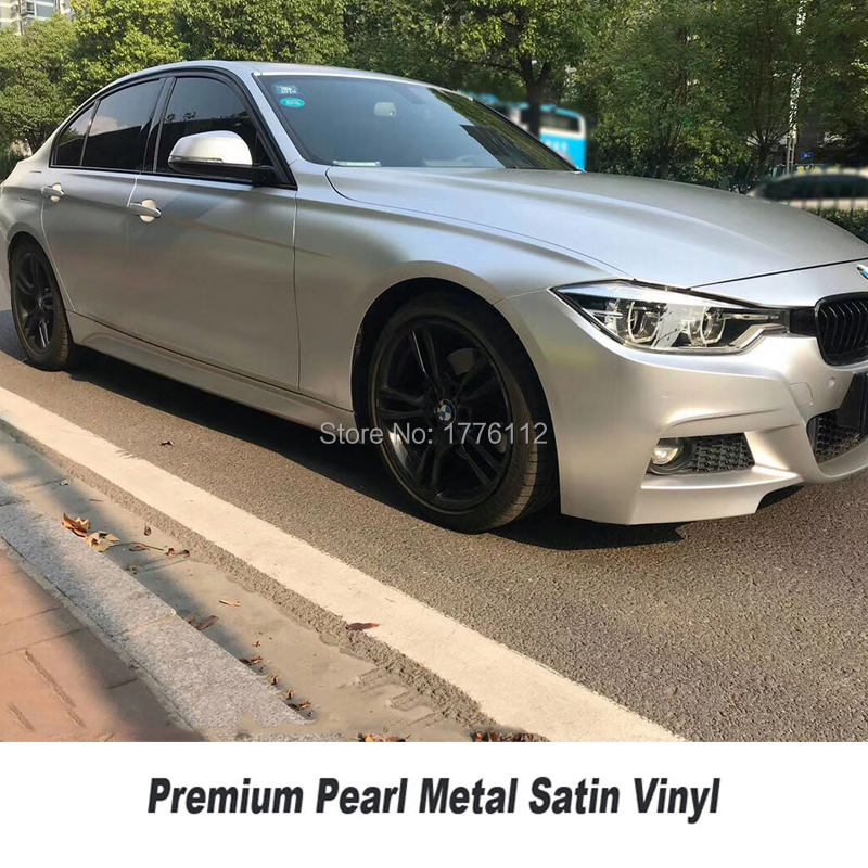 Highest quality silver matte metallic wrapping film pearl metal silver Vinyl wrap foil air bubble free for High end car
