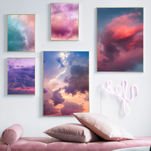 Colorful Cloud Aesthetics landscape Wall Art Canvas Decoration poster prints for living room Home bedroom decor Painting