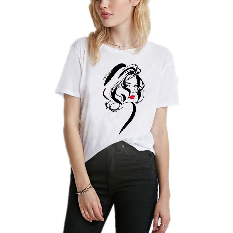 European and American street fashion womens spring summer new bottoming letters short-sleeved t-shirt