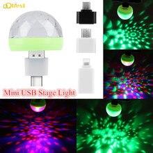Горячий мини USB сценический светильник светодиодный диско-светильник вечерние светильник s Портативный хрустальный магический шар красочный эффект сценический светильник dj светильник