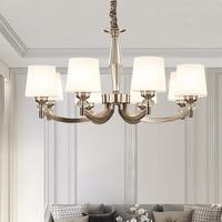 Ditoon Post Modern Led Chandelier Nordic Lighting Living Room Bedroom Decor Light Luxury Glass Lamp Shape White Bronze Lusters