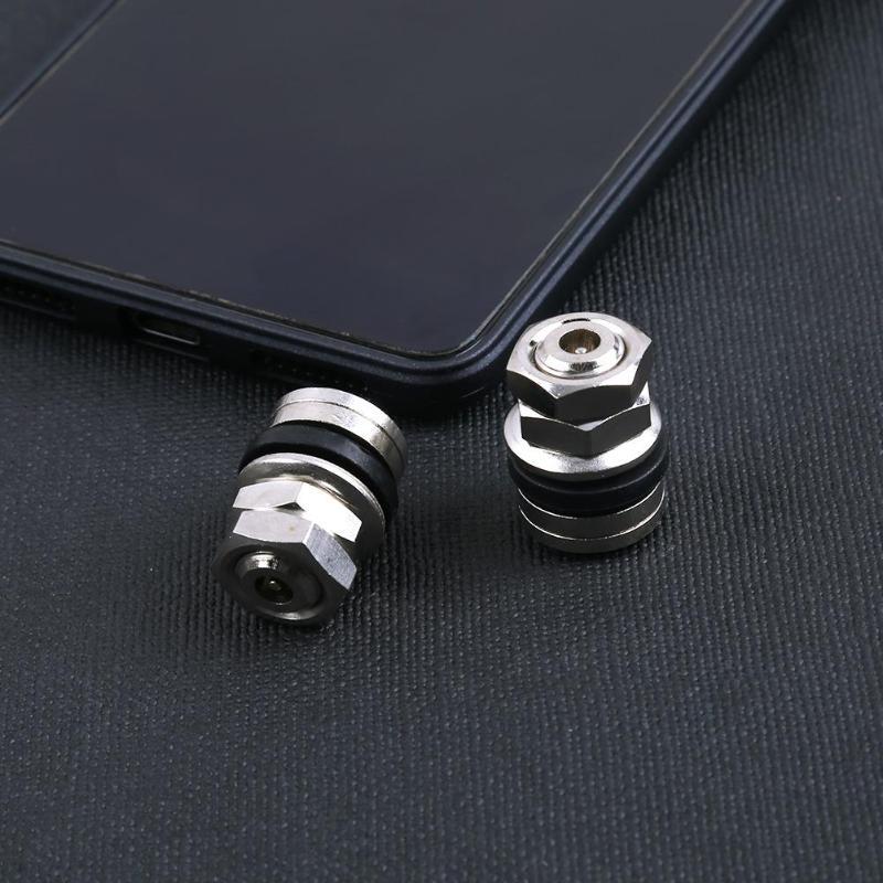 4pcs Universal Stealth Flush Mount Car Ruber Wheel Tyre Hidden Tapa Valvula Rueda Kit Valve Stems Cap Set Kit Auto Accessories