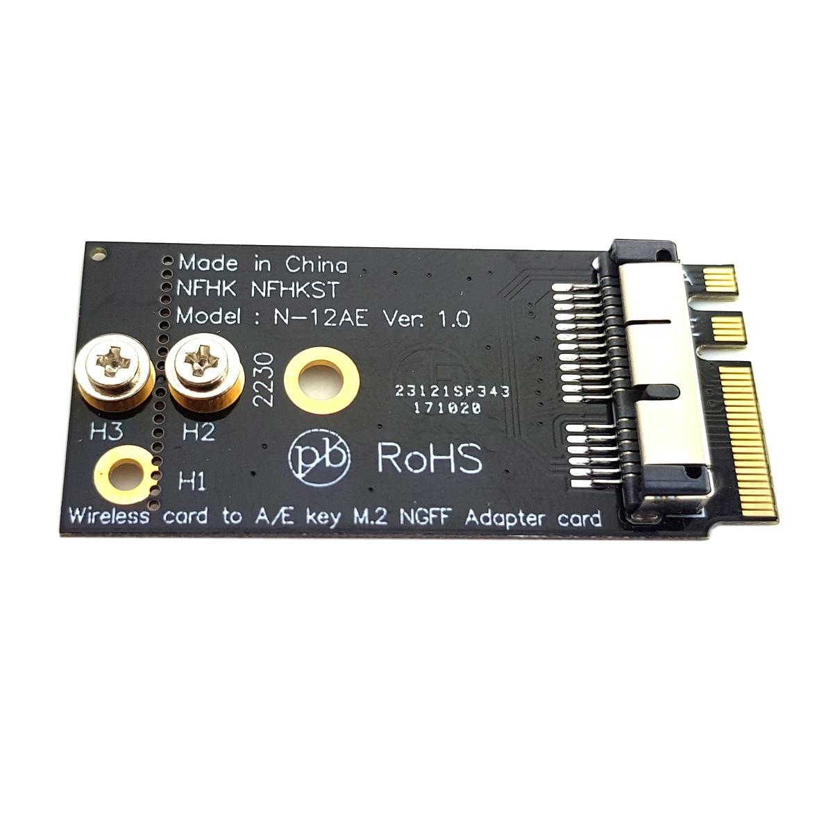 JSER BCM94360CS2 BCM943224PCIEBT2 Wireless Card to NGFF M.2 Key A//E Adapter for Macbook OS