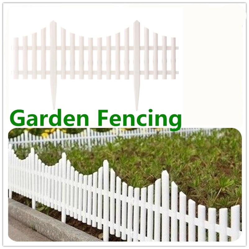 24Pcs Plastic Garden Border Fencing Fence Pannels Outdoor Landscape Decor  Edging Yard Easy Install Insert Ground Type 610x330mm