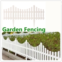 24Pcs Plastic Garden Border Fencing Fence Pannels Outdoor Landscape Decor Edging Yard Easy Install Insert Ground Type 610x330mm
