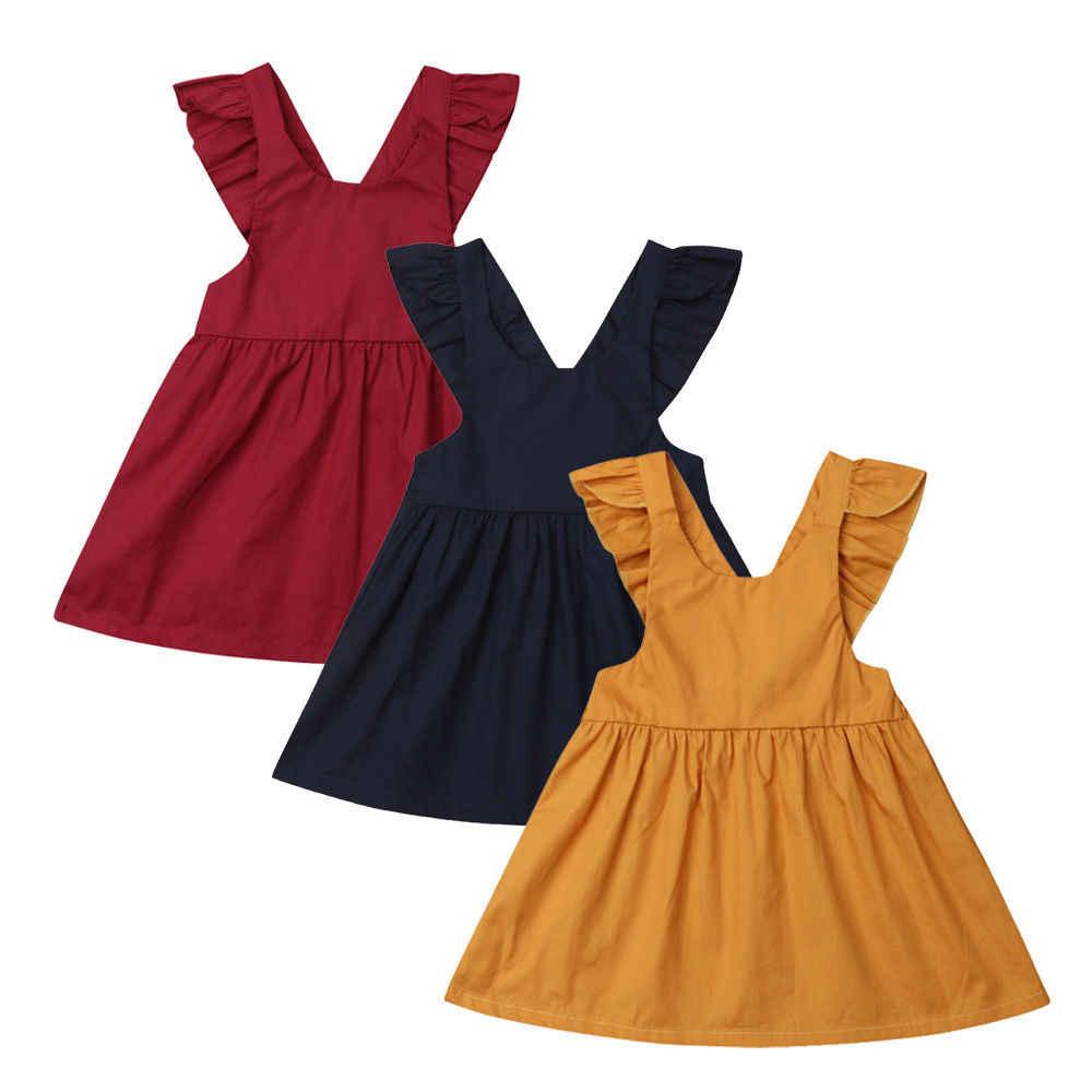 ילדים פעוט תינוקת נסיכת שמלה לפרוע תחבושת ללא משענת ללא שרוולים V צוואר שמלות תחרות מסיבת חתונת טוטו שמלות
