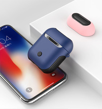 Solid color Airpods TPU + PC Dual Layer Case for Apple Bluetooth Headset 1 Charging Box New Anti-Fall Dust Accessories