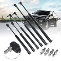 6Pcs/set Car Truck Bonnet Tailgate Rear Window Lift Support Strut Bars For Jeep Grand Cherokee 1999 2004