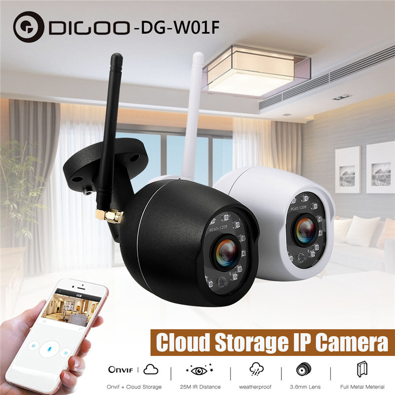 DIGOO DG-W01f W01f 3.6mm 720P Waterproof Outdoor WIFI Security IP Camera IR Motion Detection Support Onvif Monitor Cloud Storage
