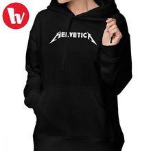 50f0e03ef METALLICA Hoodie Helvetica METALLICA Parody Hoodies Cotton Graphic Hoodies  Women Sweet Long-sleeve White Large
