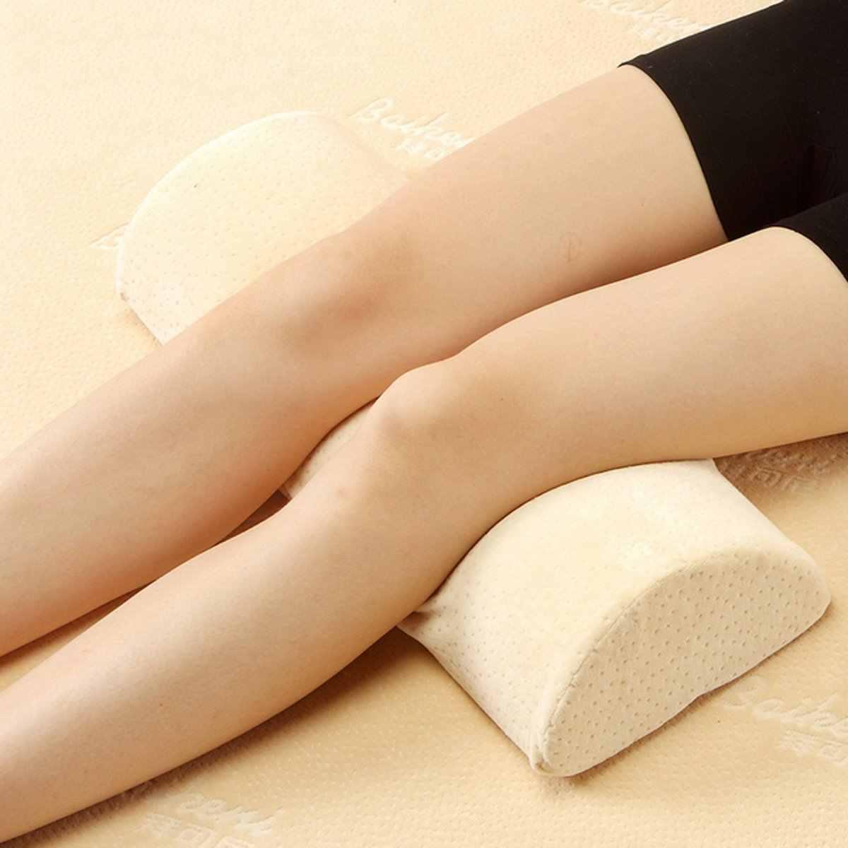 スローリバウンドメモリフォーム脚枕睡眠腰椎枕腰ネックサポート膝クッションパッド圧力リリーフ枕
