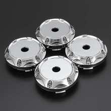 4 шт. набор 64 мм Универсальный ABS серебро Центральная втулка колеса автомобиля крышки набор без логотипа TW