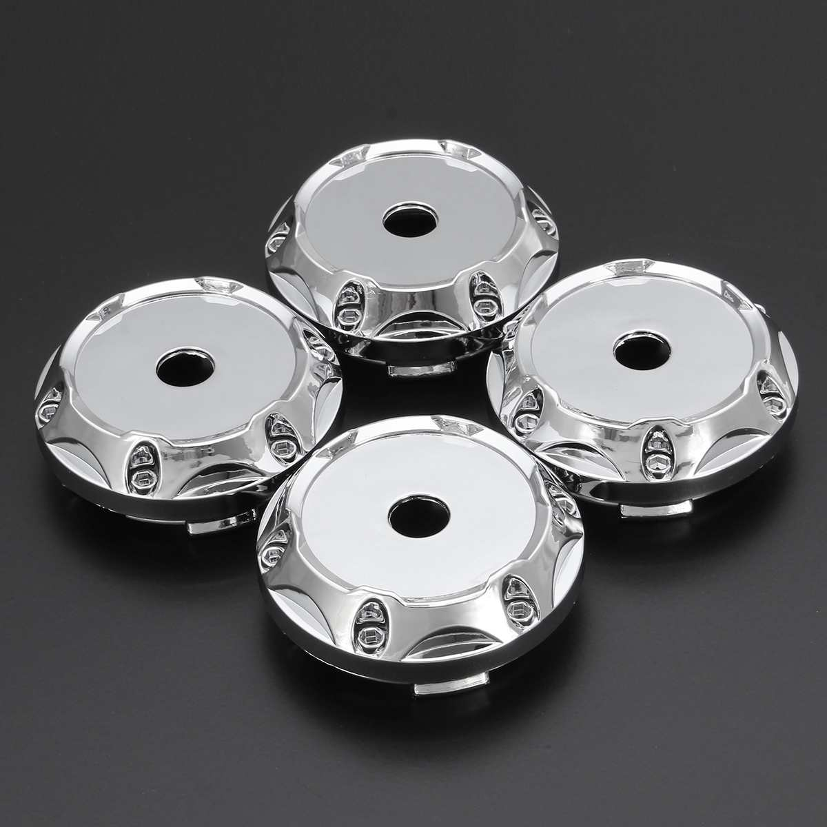 4Pcs a set 64mm Universal ABS Silver <font><b>Car</b></font> <font><b>Wheel</b></font> Center <font><b>Hub</b></font> Caps <font><b>Covers</b></font> Set No Logo TW image