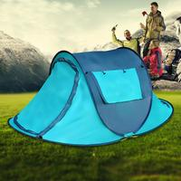 Outdoor 2 4 People Fully Automatic Camping Tent Double Camping Boat Account Outside Beach Tent Good Quality Useful Equipment