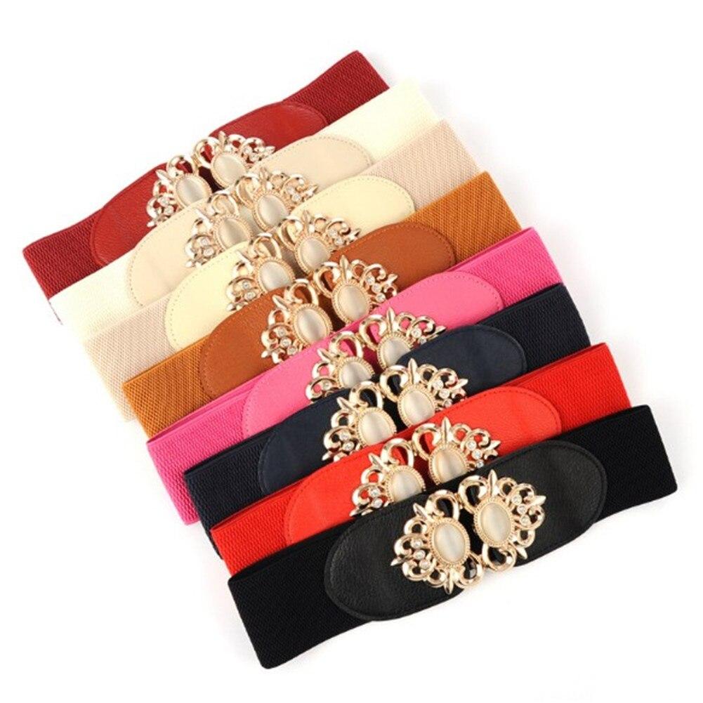 YJSFG HOUSE Fashion Waist Wide Belt All-match Elastic Waist Strap Belt Diamond Decoration  Overcoat Skirt Cummerbund Waistband
