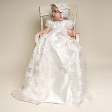 Винтажные Платье для маленьких девочек платье для крещения 1st на первый день рождения, вечерние, платье на крестины, свадебную детской одежд...