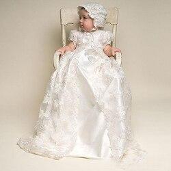 Vintage Baby Vestito Dalla Ragazza Abiti da Battesimo per Le Ragazze 1st Anno Festa di Compleanno di Cerimonia Nuziale Battesimo Del Bambino Abbigliamento Infantile Bebes