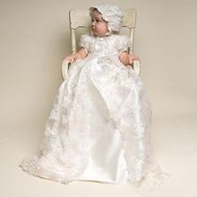 Vestidos clássicos para meninas, vestidos de batismo para meninas do primeiro aniversário, festa de casamento, batizado, roupas infantis