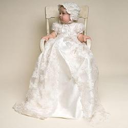 Винтажное платье для девочек, платья для крещения для девочек на 1-й день рождения, свадьбу, крещение