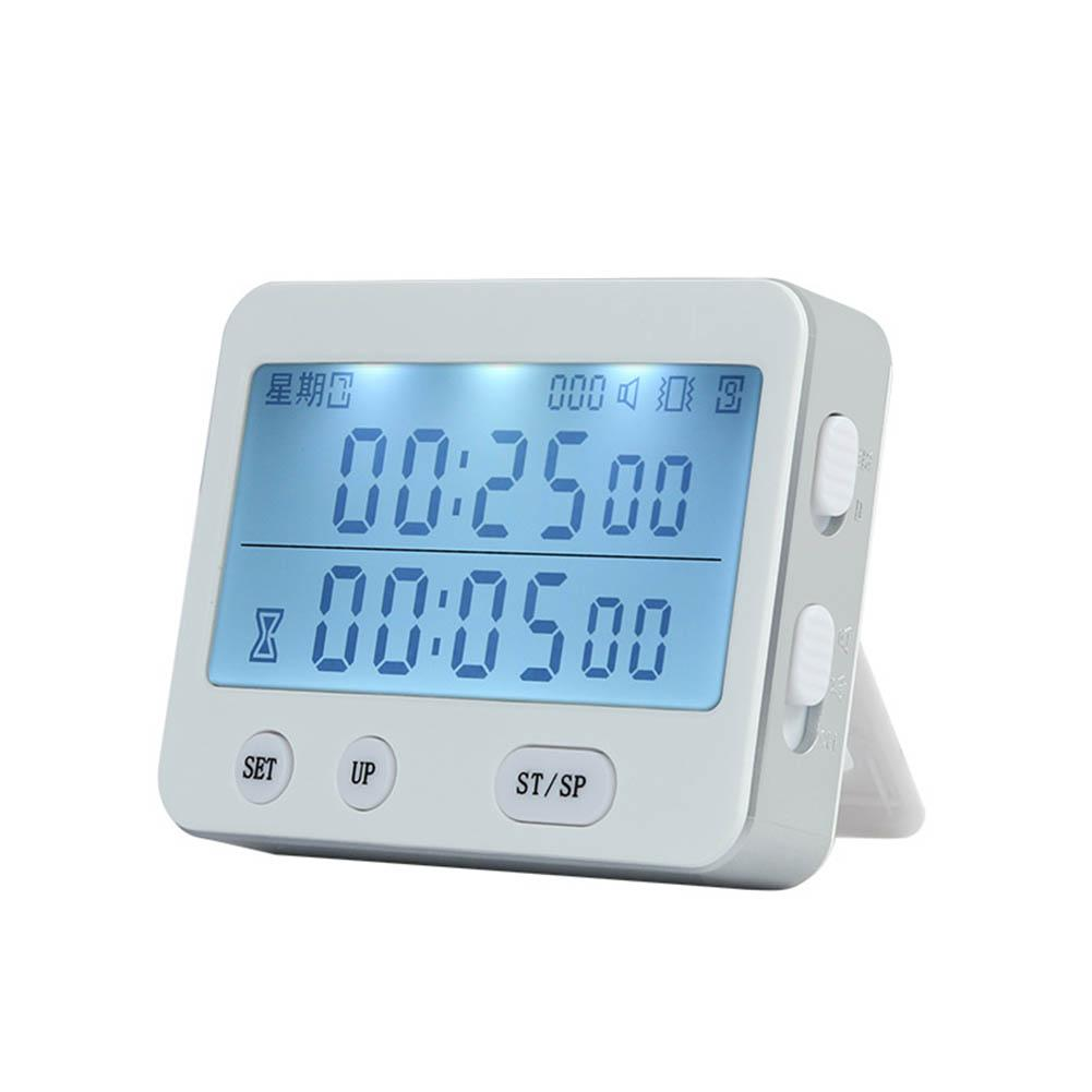 2019 New For Yishi YS-255 Dual Screen Display Timer Alarm Clock Tomato Timer Silent Vibration 99 Hour Timer