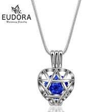 Ожерелье eudora с подвеской в виде хрустального шара и сердца