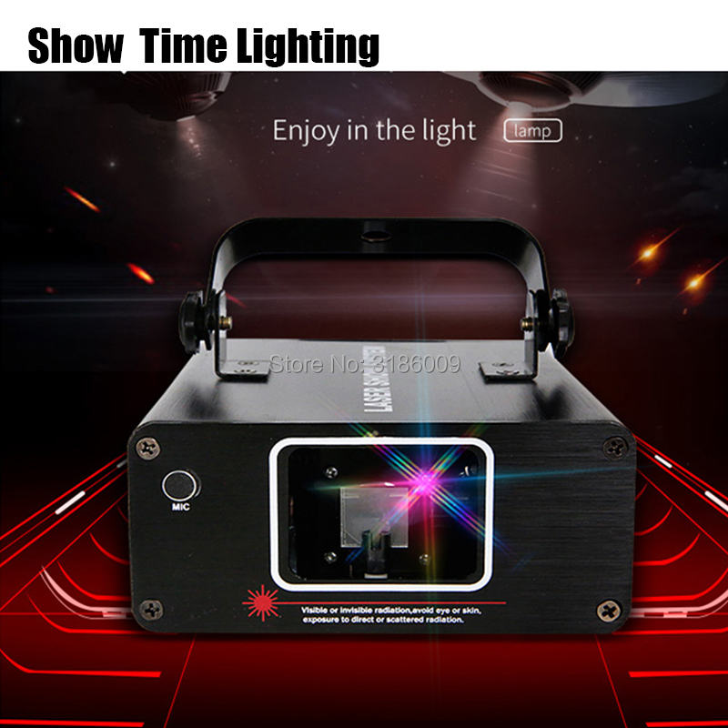 Show Time DJ Laser Stage Light Full Color 96 RGB Patterns Projector Stage Effect Lighting For Disco Xmas Party 1 Head Laser