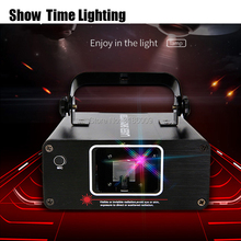Show time DJ Laser stage light Full Color 96 RGB Patterns Projector Stage Effect Lighting for Disco Xmas Party 1 head laser 9w 16 colors rgb led water wave ripple effect stage lighting christmas party dj show pattern laser projector ocean wave light