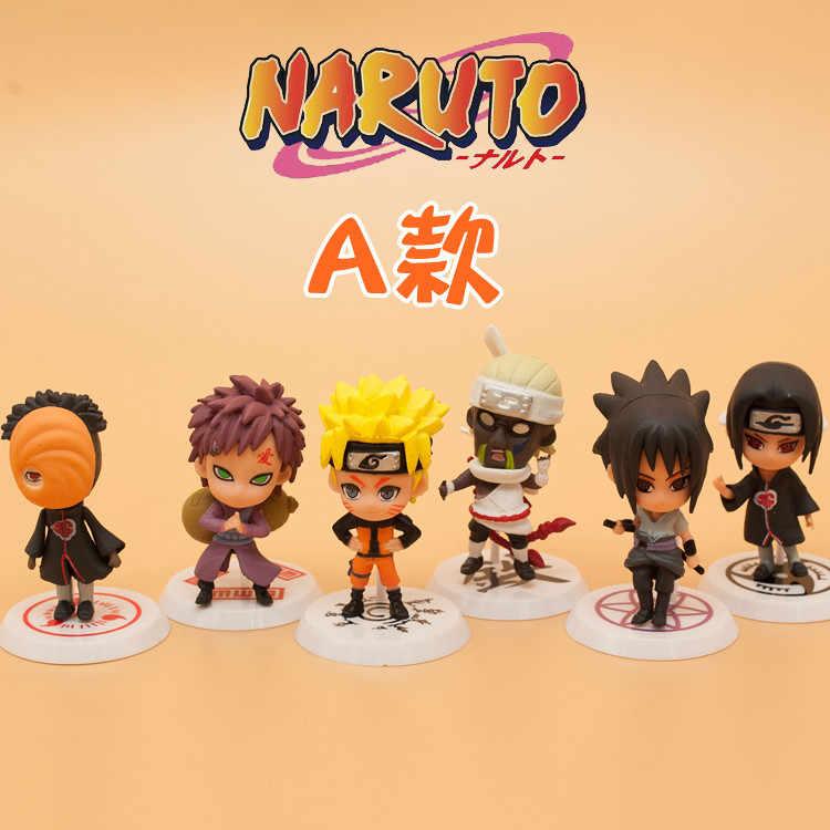 Göndermek rastgele Q Anime Naruto Action Figure 12 Stilleri Zabuza Haku Kakashi Sasuke Naruto Sakura PVC Model Koleksiyonu Çocuklar oyuncaklar