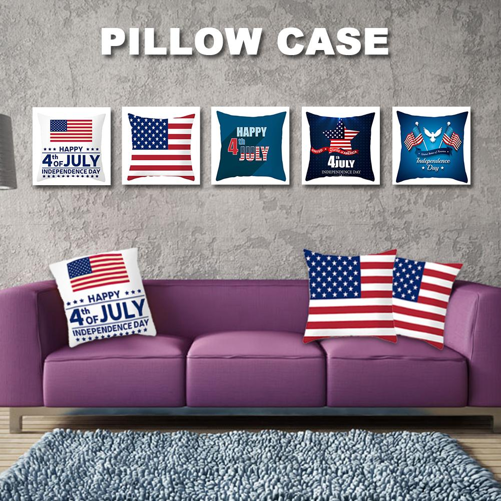 American Flag Pillowcase Pillow Covers Decorative American Independence Day Pillow Cushion Cover Decorative Cover